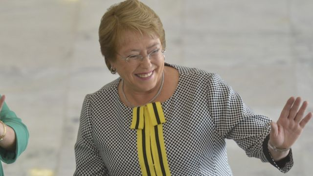 Michelle Bachelet em visita ao Brasil