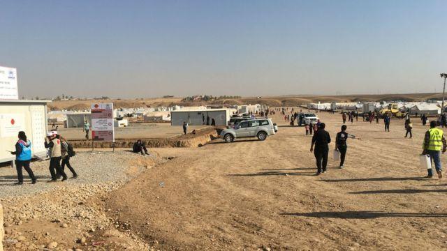 مخيم اليونيسيف شمال الموصل في نوفمبر/تشرين الثاني 2016