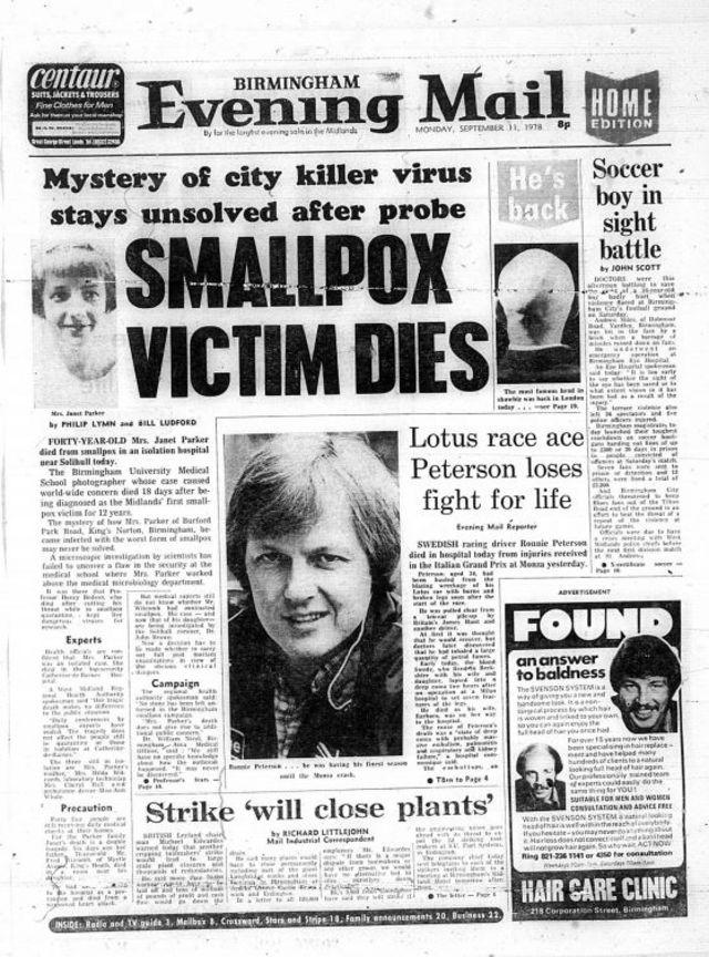 Imagen de una portada de diario local de la época.