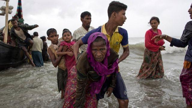 罗兴亚难民抵达孟加拉