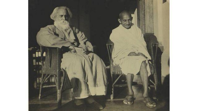 రవీంద్రనాథ్ ఠాగూర్, గాంధీ