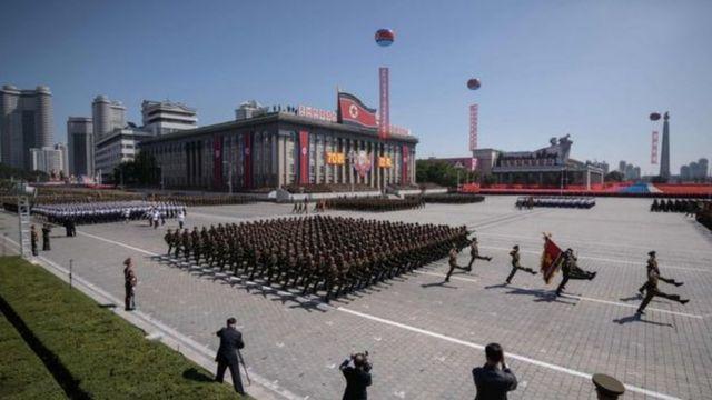 Abasirikare ba Koreya ya ruguru babarirwa mu bihumbi bari bitabiriye ako karasisi