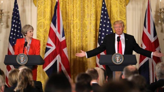 ترامب وماي بعد المباحثات الثنائية في البيت الأبيض
