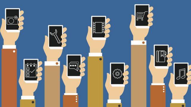 ilustración: aplicaciones móviles