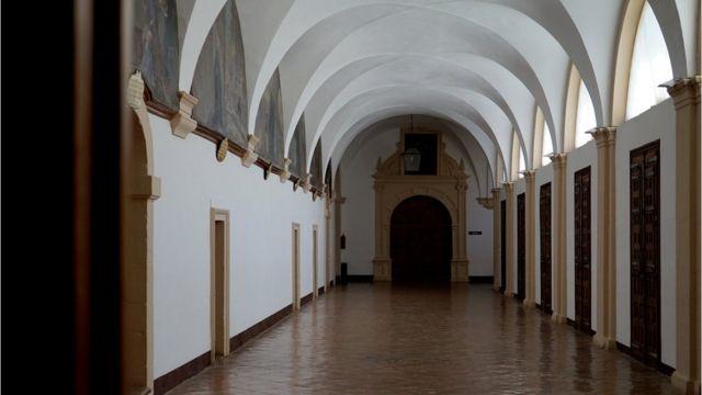 Parte alta del claustro del monasterio de Yuso