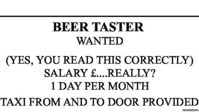 Anúncio de emprego publicado em jornal local diz que não há remuneração