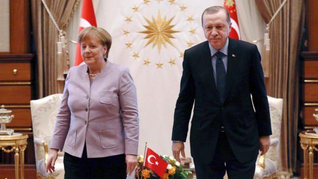Almanya Başbakanı Angela Merkel ve Cumhurbaşkanı Recep Tayyip Erdoğan, 2 Şubat 2017