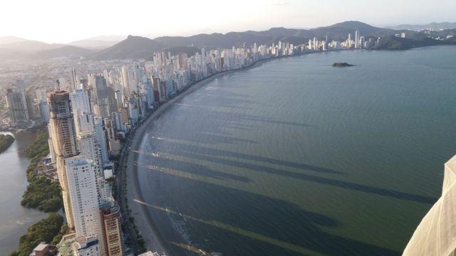 Vista aérea de Praia Central