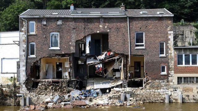 Pepinster flood damage, 19 Jul 21