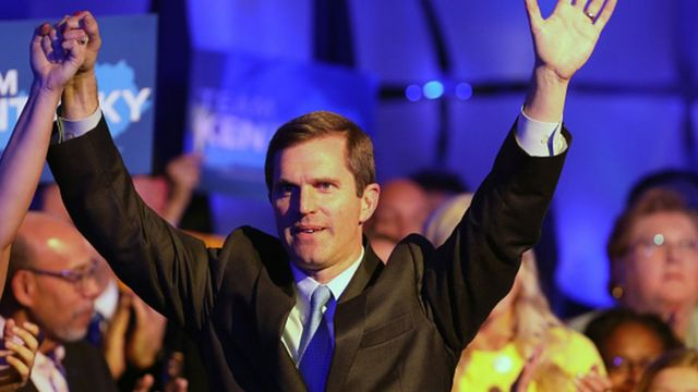 Democrat Andy Beshear has declared victory in the race to be Kentucky's governor