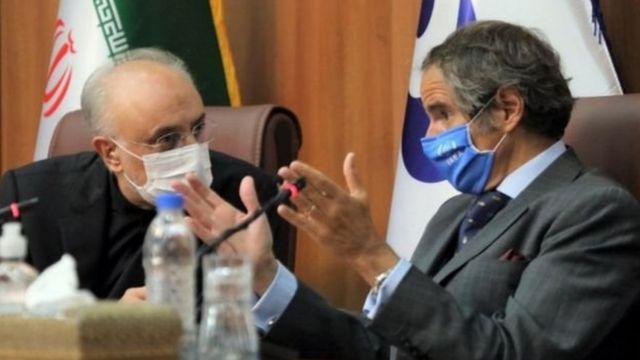 رافائل گروسی و علی اکبر صالحی