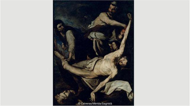 Pada 1644, Ribera lebih grafis dalam melukiskan kematian sang orang suci, dan memperlihatkan dia dikuliti hidup-hidup dengan detil mengerikan.