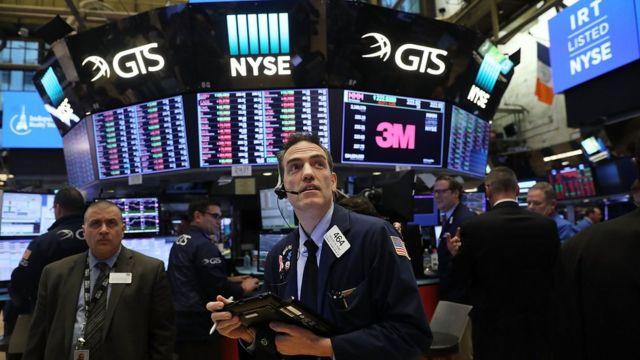 Corredor de la bolsa de Wall Street.