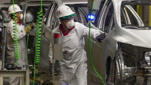 Planta de fabricación de autos en México