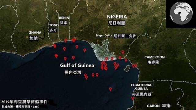 西非几内亚湾地图