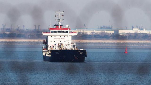 被扣留在韩国平泽港的KOTI号油轮(1/1/2018)