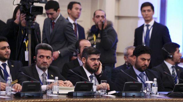 جانب من محادثات السلام السورية في استانة
