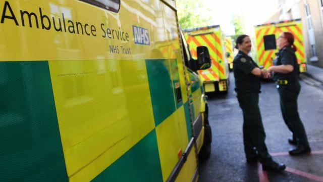 Ambulancias del servicio NHS