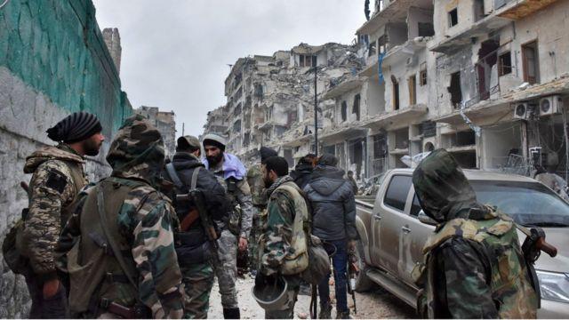 جنود موالون للأسد في حلب