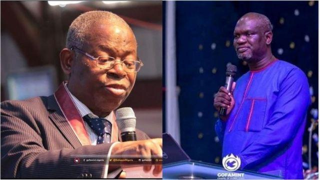 Pasitọ Elijah Abina ati ọmọ rẹ Emmanuel