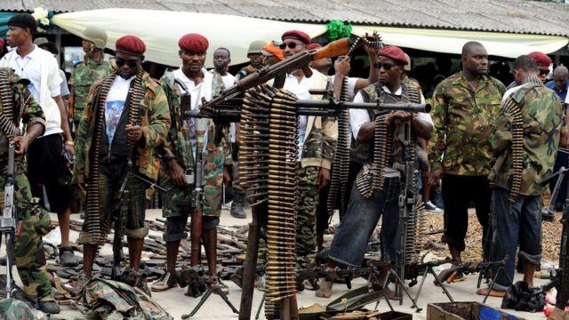 Разоружение боевиков в Нигерии