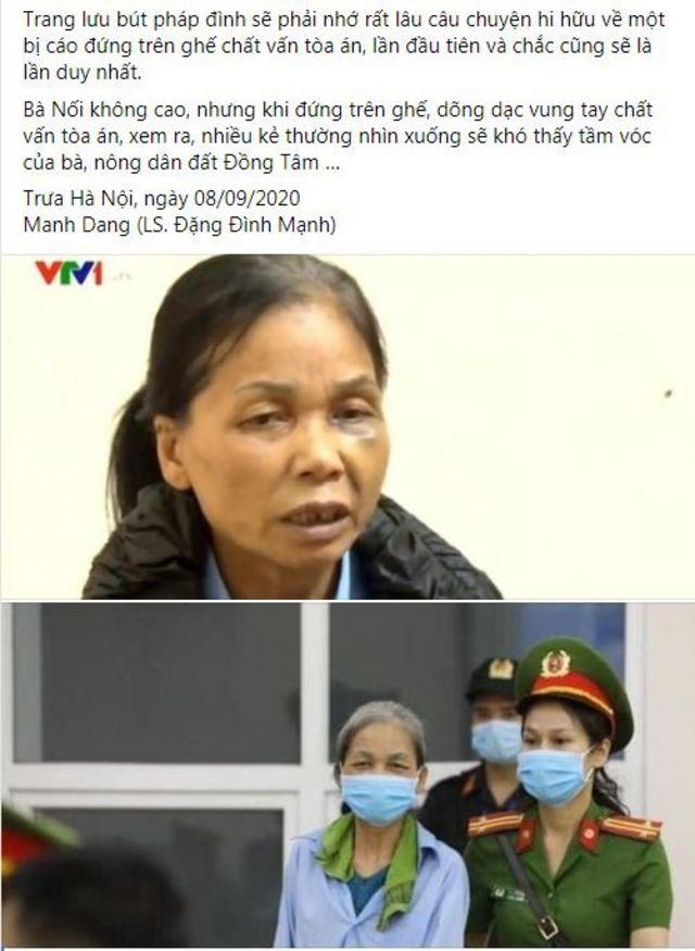 LS Đặng Đình Mạnh ghi lại diễn biến phiên tòa về phần bị cáo Bùi Thị Nối.