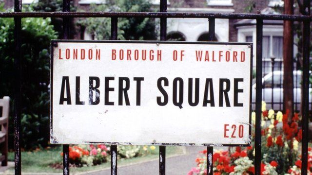 Albert Square sign featured in Eastenders programme