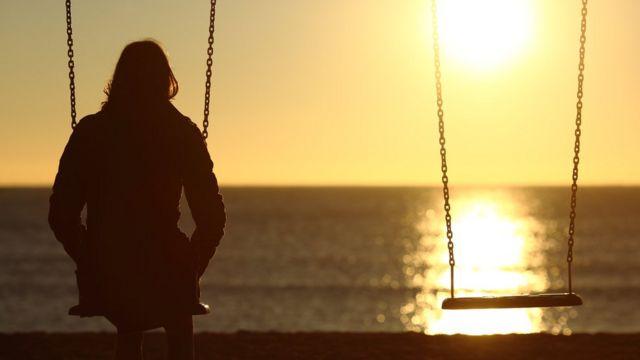 Mujer solitaria
