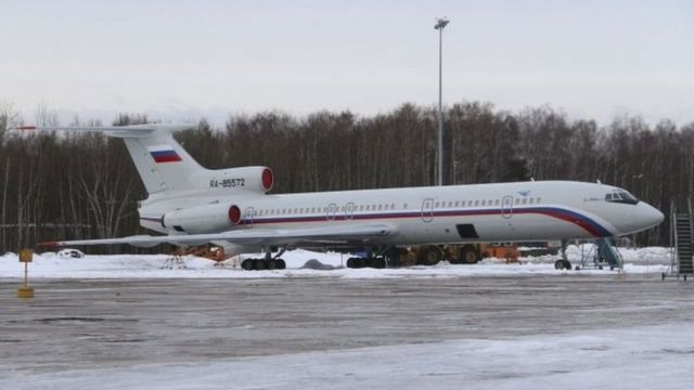 الطائرة العسكرية الروسية قبل تحطمها