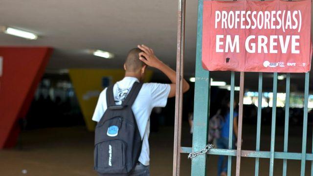 Escola em greve no Distrito Federal