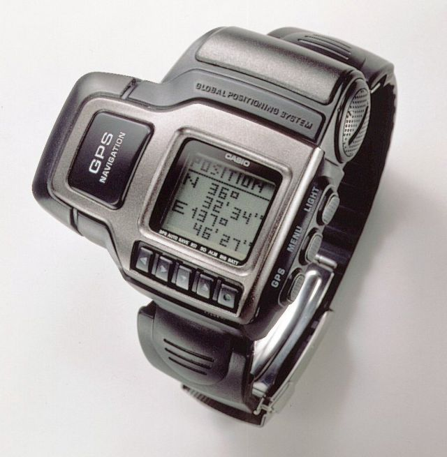 First GPS watch, produced by Casio in 1999