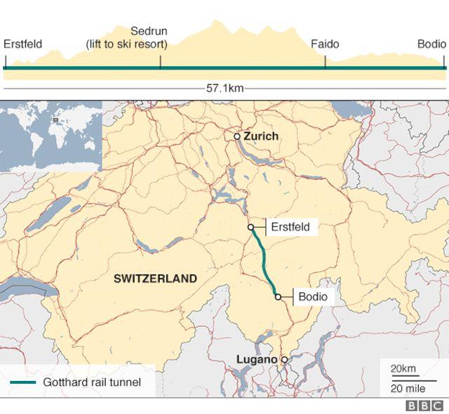 トンネルの地図