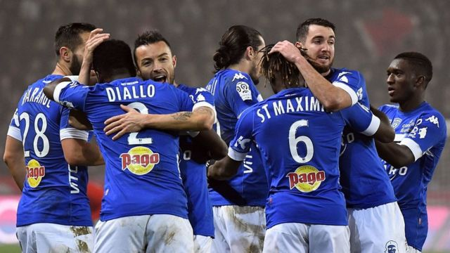 Des joueurs de l'équipe de Bastia