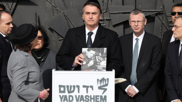 Presidente Bolsonaro em visita ao memorial do Holocausto Yad Vashem