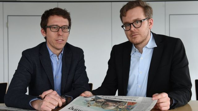 Bastian Obermayer y Frederik Obermaier
