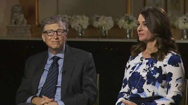 Bill and Melinda Gates discuss charitable work
