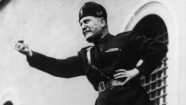 El líder fascista italiano Benito Mussolini en 1934