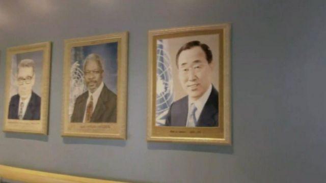 Portraits of UN secretary-generals