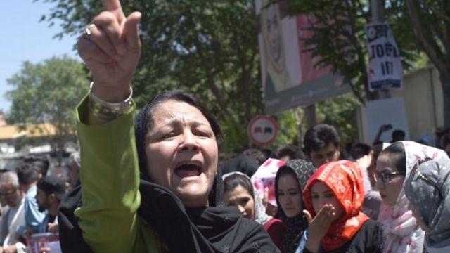 معترضان در کابل