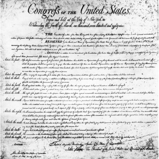 Carta de Derechos de EE.UU.