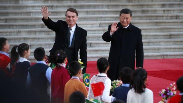 Bolsonaro e Xi Jinping