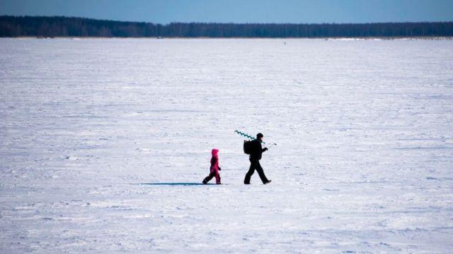 по снегам Финляндии