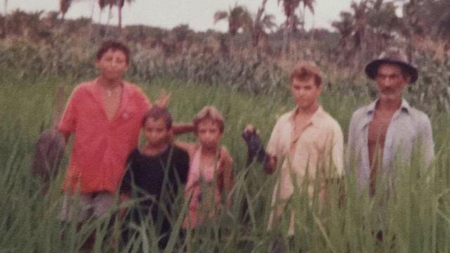 Silvestre com a família