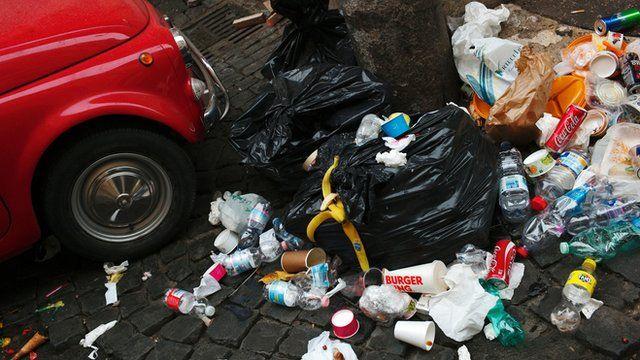 Rubbish in Rome