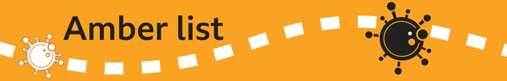 Bannière de liste ambre
