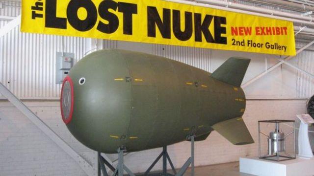 نموذج للقنبلة المفقودة من المتحف الكندي