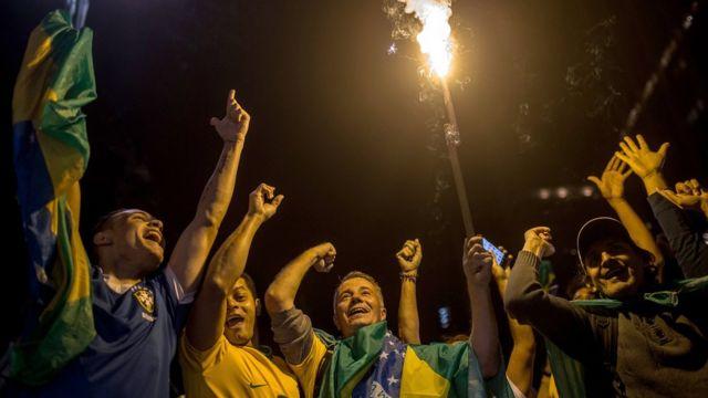 Simpatizantes de Bolsonaro em SP