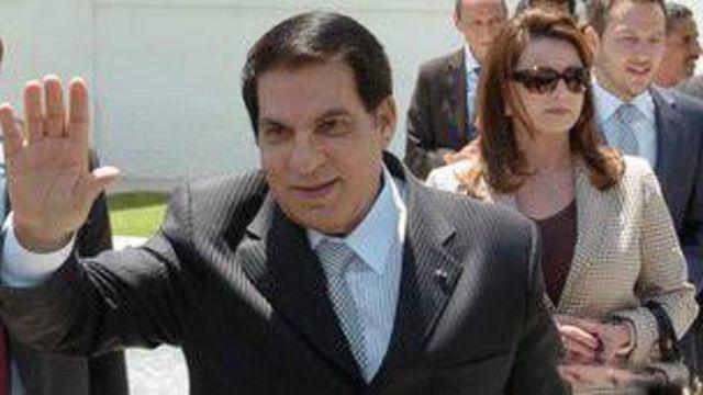 بن علي وزوجته