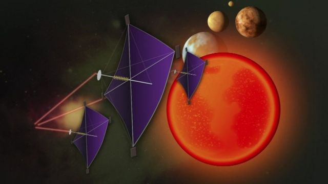 Artist's concept of solar sail space craft