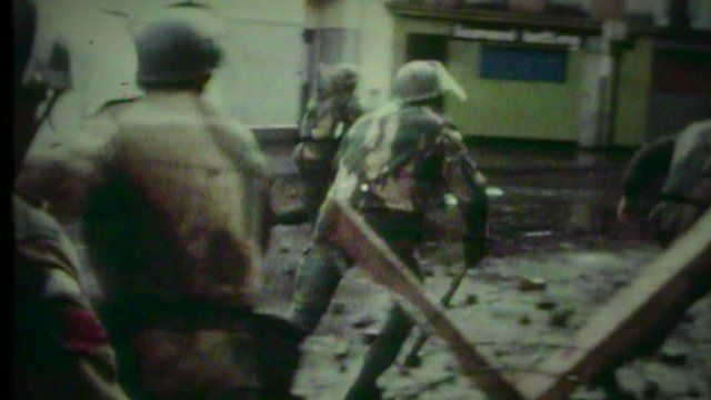 File image of soldiers on Bloody Sunday